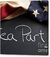 Tea Party Political Sign On Chalkboard Canvas Print