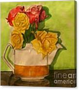 Tea Roses Canvas Print