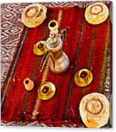 Tea Service In A Bedouin Tent In Wadi Rum-jordan Canvas Print