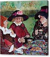Tea With The Girls Canvas Print