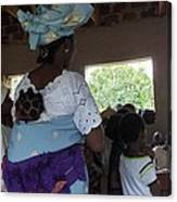 Teacher Backing Her Baby  Canvas Print