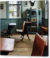 Teacher - One Room Schoolhouse With Clock Canvas Print