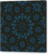 Teal And Brown Floral Abstract Canvas Print