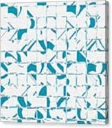 Teal Glyphs  Canvas Print