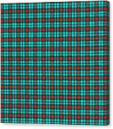 Teal Red And Black Plaid Fabric Background Canvas Print