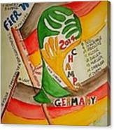Team Germany Fifa Champions Canvas Print