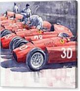 1956 Team Lancia Ferrari D50 Type C 1956 Italian Gp Canvas Print