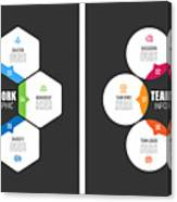 Teamwork Chart With Keywords Canvas Print