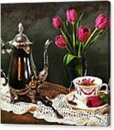 Tea'n Tulips Canvas Print