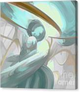 Teary Dreams Pastel Abstract Canvas Print