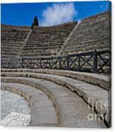 Teatro Grande Or Grand Amphitheater Pompeii Italy Canvas Print