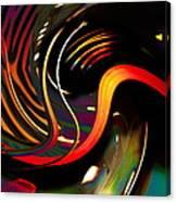Techno  Neon Stripes Canvas Print