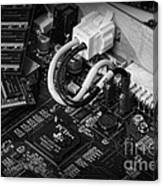 Technology - Motherboard In Black And White Canvas Print