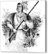 Tecumseh, Shawnee Indian Leader Canvas Print