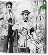Ted Degrazia With  Uncle  Gregorio Circa 1920's-2013 Canvas Print