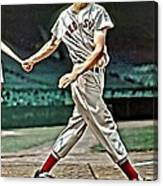 Ted Williams Painting Canvas Print
