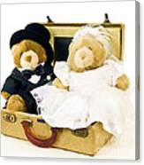 Teddy Bear Honeymoon Canvas Print