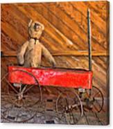 Teddy Takes A Ride Canvas Print
