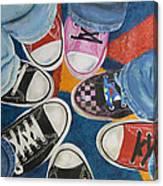 Teens In Converse Tennies Canvas Print