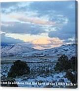 Tehachapi Valley With Job Quote Canvas Print