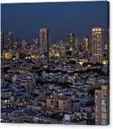 Tel Aviv At The Twilight Magic Hour Canvas Print