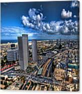 Tel Aviv Center Skyline Canvas Print