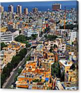 Tel Aviv Eagle Eye View Canvas Print