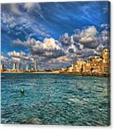 Tel Aviv Jaffa Shoreline Canvas Print