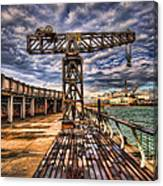 Tel Aviv Port At Winter Time Canvas Print