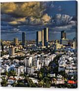 Tel Aviv Skyline Fascination Canvas Print