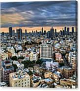 Tel Aviv Skyline Winter Time Canvas Print