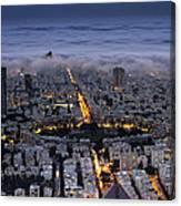 Tel Aviv Under Fog  Canvas Print