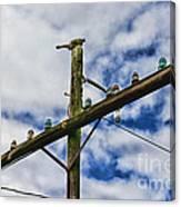 Telegraph Pole - Yesterdays Technology Canvas Print
