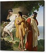Telemachus And Eucharis Canvas Print