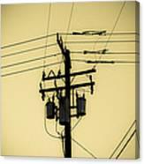 Telephone Pole 4 Canvas Print