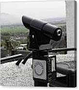 Telescope Near The Entrance Of Stirling Castle Canvas Print