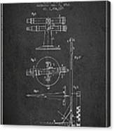 Telescope Telemeter Patent From 1916 - Charcoal Canvas Print