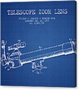 Telescope Zoom Lens Patent From 1999 - Blueprint Canvas Print