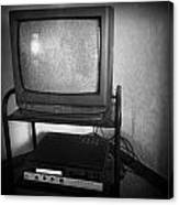 Television And Recorder Canvas Print