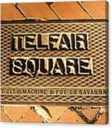 Telfair Square In Savannah Canvas Print