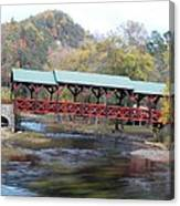 Tellico Bridge In Fall Canvas Print