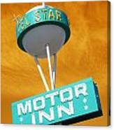 Telstar Motor Inn - Orange Canvas Print