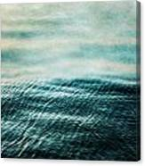 Tempest Ocean Landscape In Shades Of Teal Canvas Print