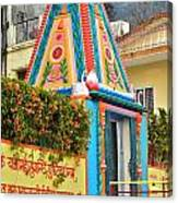 Colorful Temple - Rishikesh India Canvas Print