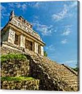 Temple And Blue Sky Canvas Print