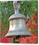 Beautiful Temple Bell At Vishwanath - Himalayas India Canvas Print
