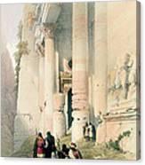 Temple Called El Khasne Canvas Print