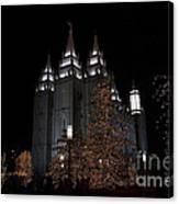 Temple Christmas Lights Canvas Print