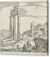 Temple Of Castor And Pollux And The Basilica Of Constantine Canvas Print