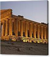 Temple Of Concordia In The Valley Of Canvas Print